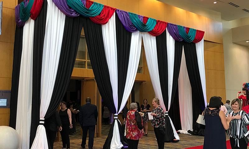 Event Rentals - pipe and drape- Create Event Design