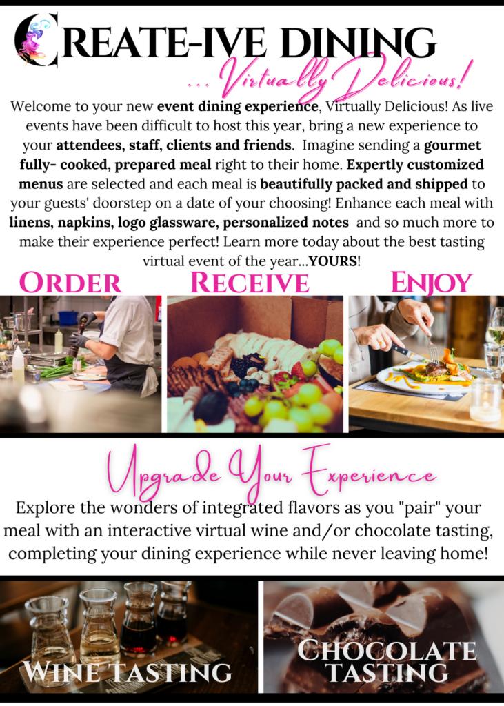Create Event Design - Virtually Delicious - Virtual Events - Catering